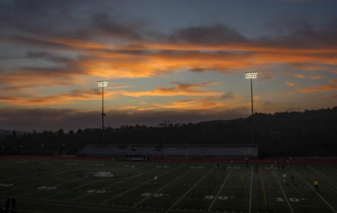 A stunning sunset last Friday. Below, girls JV soccer played against San Dieguito Academy at home.