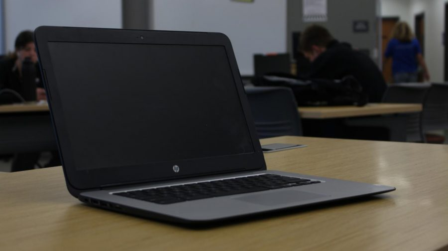 This is our school's current Chromebook model. This was the first year every student at Sage Creek got a Chromebook.