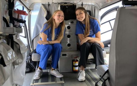 Grace O'Grady and her friend are sitting in the backseat of an ambulance. They both were a part of the summer program and Rady's.