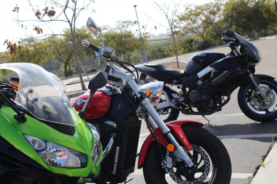 There are many different types of bikes that these students ride, from Honda to Kawasaki. The wide diversity of bikes makes it so that no matter what they need, from the price to the handling, there can be a bike to fit anyone's riding style.