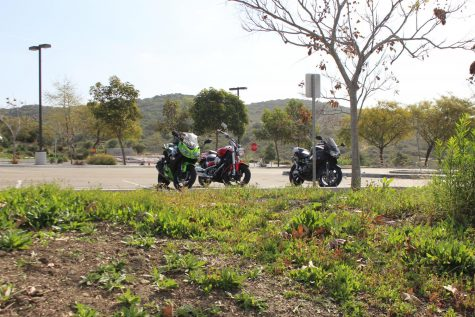 When driving or walking up to the upper parking lot, on the right you can usually find 3 or 4 motorcycles parked next to each other looking over the road. The riders, Jameson (J.T.) Miller, Kadin Coddington, Isaiah Felix-Chan and Jackson Buckley form the small, tight knit motorcycle community here at Sage Creek.