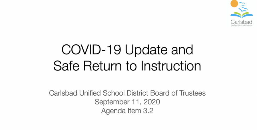 The+CUSD+board+of+trustees+met+on+Sept.+11+to+make+their+final+elementary+reopening+decision.+The+goal+was+to+find+a+plan+that+would+be+the+best+transition+from+online+to+at+campus+learning.