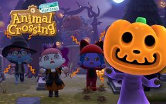 """Jack, the Halloween Czar (right) and """"Animal Crossing: New Horizons"""" players posing for a picture. Jack, the Halloween Czar has been featured in almost every game except for """"Wild World"""" in the Animal Crossing series."""