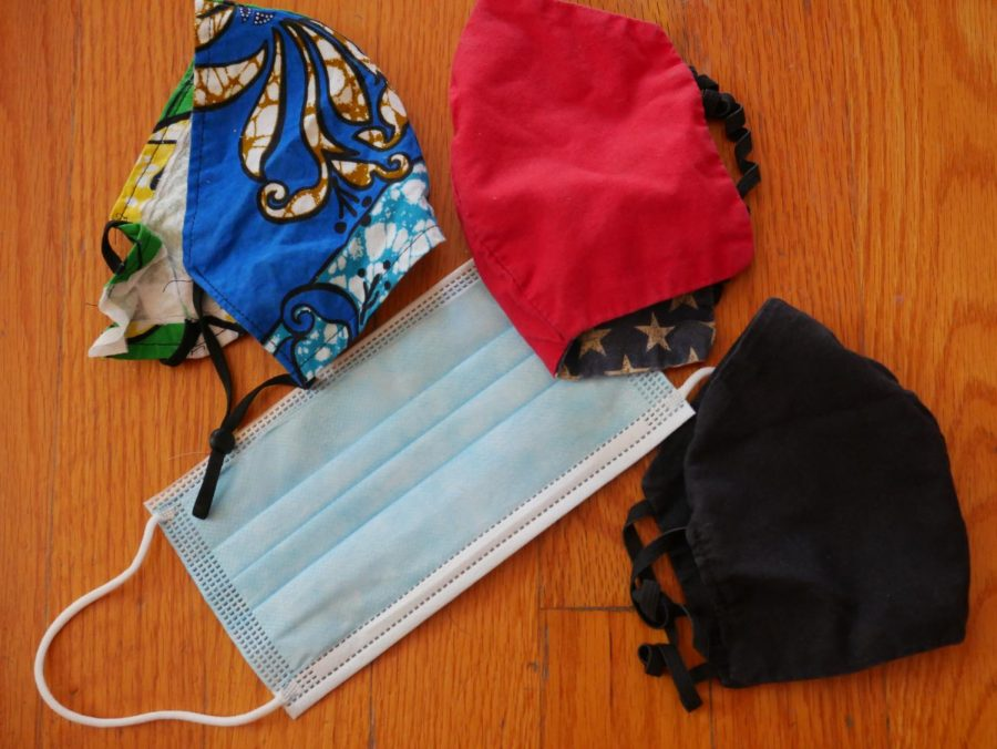 Various masks are worn by those when in public due to the facial covering mandate in California. Masks are recommended and sometimes mandatory when in public spaces to avoid the spread of Covid-19.