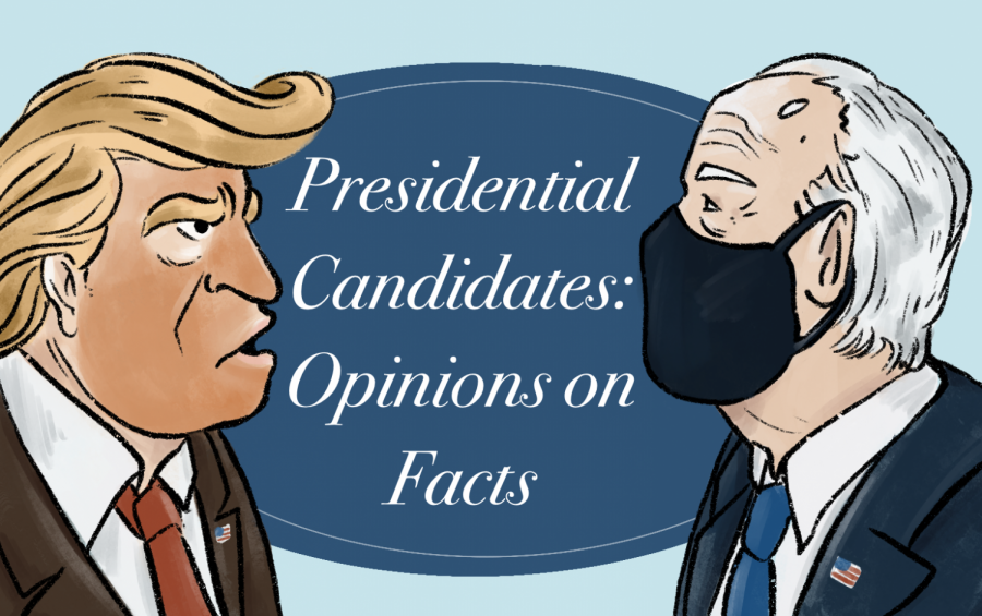 Donald Trump facing Joe Biden in the race to the Presidential Election on November 3rd. As voting beings, it's important to know not just who, but what values and changes a vote is going toward. (Visual by Tiffany Leyva)