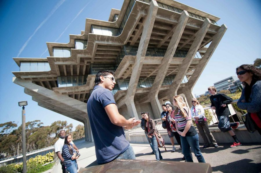 Students attend in-person tours of UCSD. In previous years, students would complete college tours in person rather than the updated virtual tours.