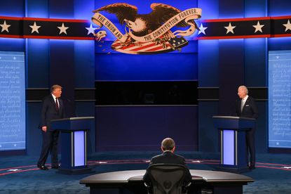 Donald Trump and Joe Biden debate in Cleveland, Ohio. This was the first of the debates between the US presidential candidates.