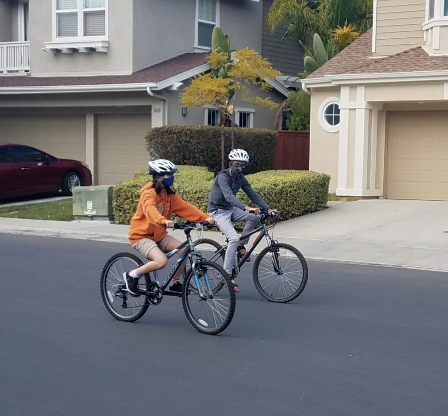 Biking through the neighborhood, Animesh Johnson and his friend are having fun. Connecting with others in quarantine is extremely different, however, Johnson quickly adapted to the difficulties.