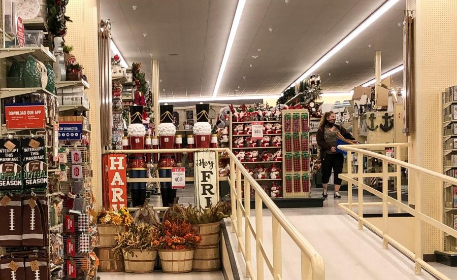 Christmas decorations are invading the seasonal section of Hobby Lobby days before Halloween is even over. Due to COVID-19, most of Halloween's typical activities have been canceled, causing more people to be eager for Christmas.