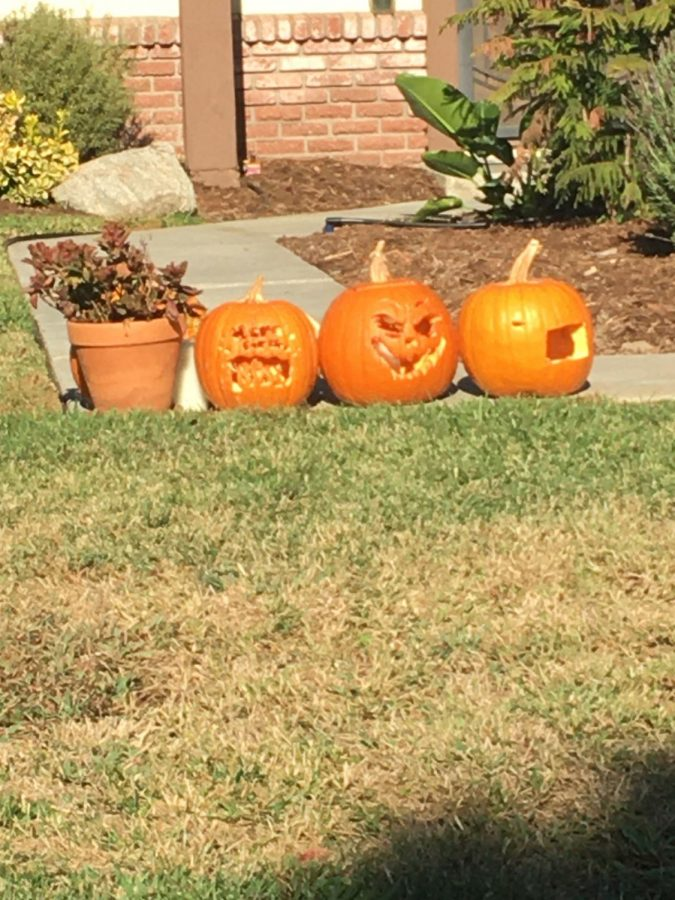Due to COVID-19 many Californians are stuck on deciding whether or not they are going to celebrate Halloween, let alone have the Halloween spirit. These were three of the few pumpkins laid out in my neighborhood, it's always great to see Halloween spirit during these tough times.