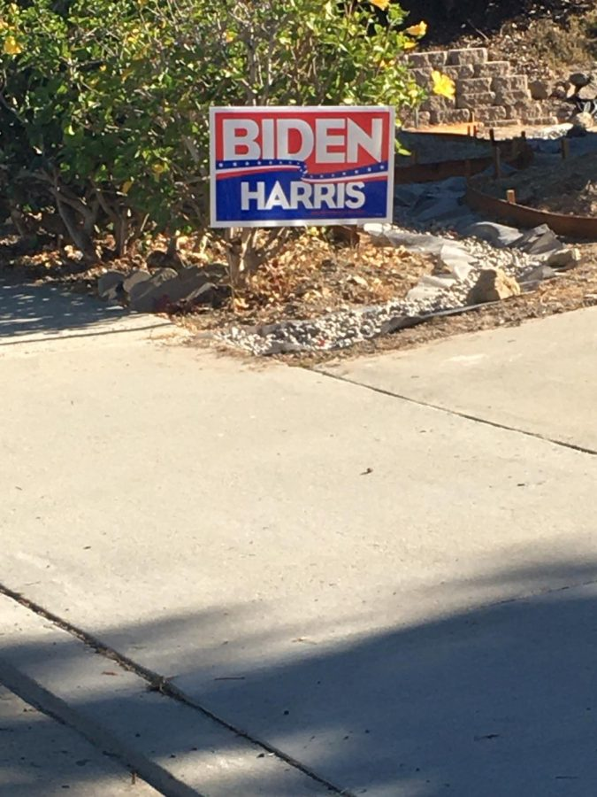 It's election year and millions of Americans voice their support for their Presidential candidates. This is one of many political yard signs that are located in front of millions of Americans homes.