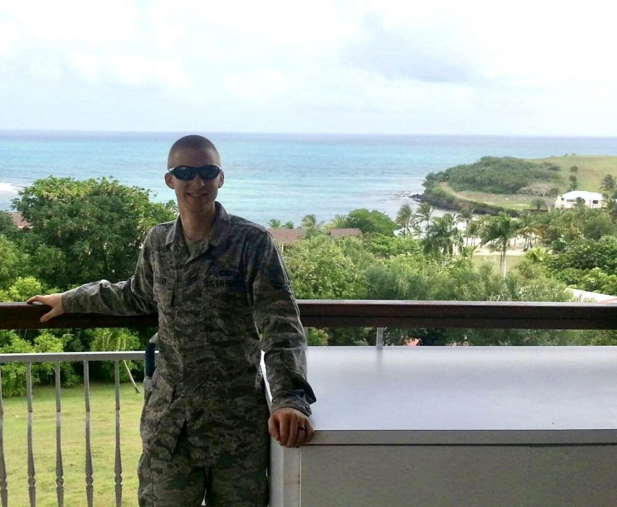 Ryan Clear stands in St. Croix. Clear served for four years from Oct. 18, 2011- Jan. 26, 2015.
