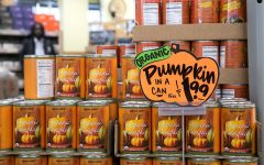 The quintessential food item featured at Trader Joes in the fall: Pumpkin in a Can. Trader Joe's is the go-to place to find fall food essentials, including necessities like Spiced Cider, Cranberry Sauce, Stuffing Mix, and more.