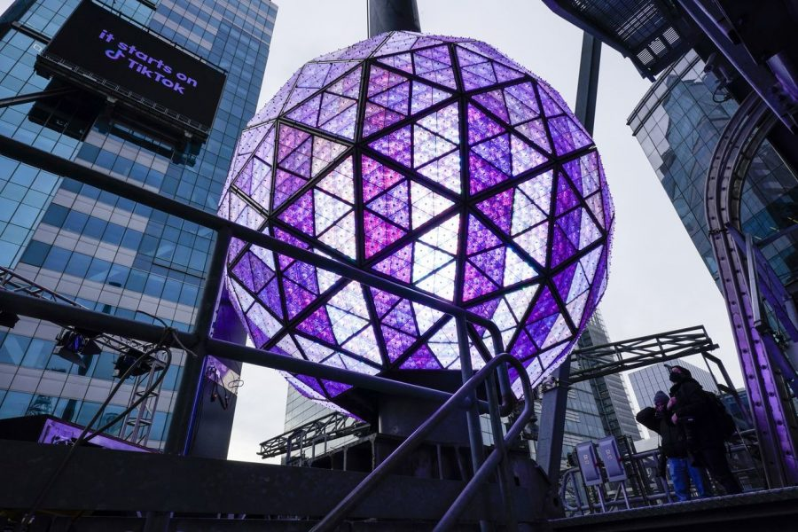 The New York Times Square ball drops on the night of Dec. 31 welcoming us into 2021.  This has been a tradition in the United States since 1907.
