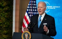 Biden speaks at the Leaders Summit On Climate. The virtual summit was held on Earth Day with the goal of increasing both the United States and other nations' climate ambition.