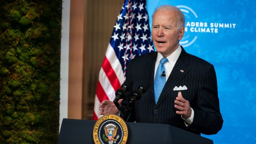 Biden speaks at the Leaders Summit On Climate. The virtual summit was held on Earth Day with the goal of increasing both the United States and other nations