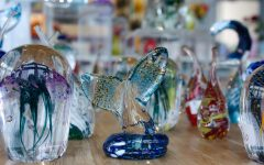 Beyond the workshop, hundreds of glass pieces glimmer in the gift shop. Visitors can take a piece of the studio home by purchasing a premade piece or joining in with the Make-your-Own program.