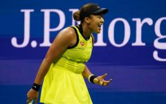 Naomi Osaka frustrated after loss against Leylah Fernandez in the 2021 U.S. Tennis Open. After winning the competition just the year before, Osaka's loss came as a surprise to many fans and sports professionals.