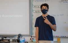 Club President Ali Elfarra poses before the club's first meeting begins. The first meeting was on Oct. 22 in room 3202.